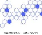 illustration of hexagon pattern ...