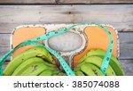 close up of bathroom weight... | Shutterstock . vector #385074088