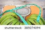close up of bathroom weight... | Shutterstock . vector #385074094