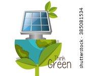 think green design  | Shutterstock .eps vector #385081534
