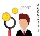 profitable growth design  | Shutterstock .eps vector #385085194
