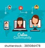 online community design  | Shutterstock .eps vector #385086478