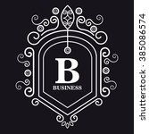monogram background design  | Shutterstock .eps vector #385086574