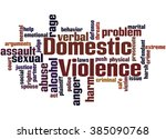domestic violence  word cloud... | Shutterstock . vector #385090768