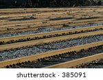 Empty railroad yard. - stock photo