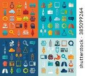 set of medicine icons | Shutterstock .eps vector #385099264