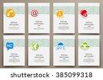 corporate identity vector... | Shutterstock .eps vector #385099318