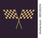 The Checkered Flag Icon. Finis...