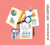 financial accounting concept.... | Shutterstock .eps vector #385108984