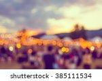 vintage tone blur image of... | Shutterstock . vector #385111534