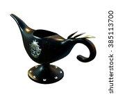 3d cg rendering of a magic lamp | Shutterstock . vector #385113700