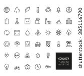 ecology outline icons for web... | Shutterstock . vector #385116790