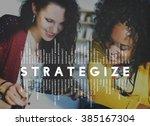strategize strategist strategic ... | Shutterstock . vector #385167304