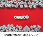 word amore meaning love in...   Shutterstock . vector #385172314