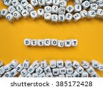 word discount of small white...   Shutterstock . vector #385172428