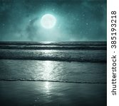night tropic background in... | Shutterstock . vector #385193218