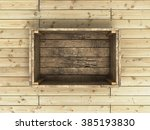 Empty Open Old Wooden Box On A...