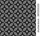 vector seamless circle pattern. ...   Shutterstock .eps vector #385203103