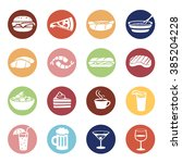 food and drink icons set in... | Shutterstock .eps vector #385204228