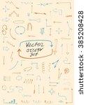 isolated  doodle arrows.vector... | Shutterstock .eps vector #385208428