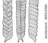 illustration of three braids | Shutterstock .eps vector #385212583