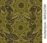 seamless pattern in medieval... | Shutterstock .eps vector #385212700