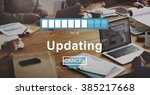 updating upgrade software... | Shutterstock . vector #385217668