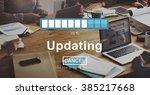 updating upgrade software... | Shutterstock . vector #385217668