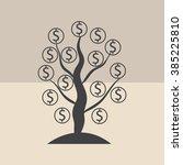 money tree isolated  | Shutterstock .eps vector #385225810