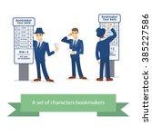 bookie character  cartoon comic ... | Shutterstock .eps vector #385227586