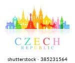 Prague  Czech Republic. Vector...