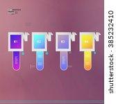 infographic design vector... | Shutterstock .eps vector #385232410