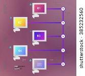 infographic design vector... | Shutterstock .eps vector #385232560