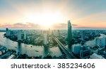 Panoramic View Of Bangkok City...