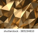 Luxury Gold Abstract Low-poly Background 3D Rendering