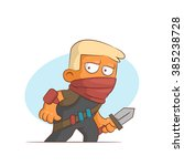 a series of characters on the... | Shutterstock .eps vector #385238728