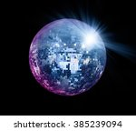 party lights disco ball | Shutterstock . vector #385239094