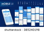 material design ui  ux screens  ... | Shutterstock .eps vector #385240198