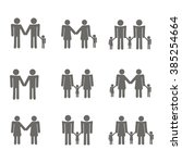 set with gays icons for your... | Shutterstock .eps vector #385254664