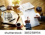 planning thinking strategy... | Shutterstock . vector #385258954
