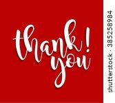 thank you hand written vector... | Shutterstock .eps vector #385258984