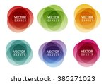 set of colorful round abstract... | Shutterstock .eps vector #385271023