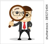 manager character looking... | Shutterstock .eps vector #385271404