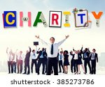 charity support help welfare... | Shutterstock . vector #385273786