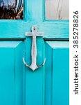 A Knocker On A Blue Door  The...
