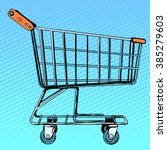 grocery cart store. shop in the ... | Shutterstock .eps vector #385279603