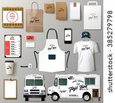 vector food truck corporate... | Shutterstock .eps vector #385279798