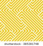 the geometric pattern by... | Shutterstock . vector #385281748