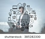 multimedia technology... | Shutterstock . vector #385282330