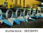 rolls of steel sheet in a...   Shutterstock . vector #38528494